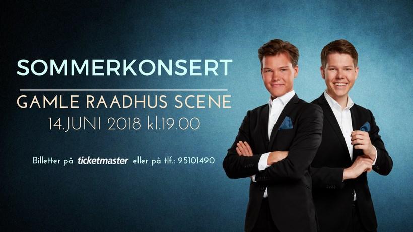 Sommerkonsert med tenorbrødrene Enger Holm